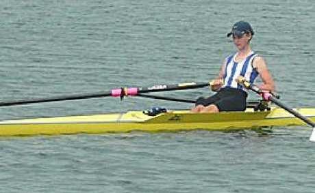 Calla Gould-Whaley is on her way to the national rowing titles.